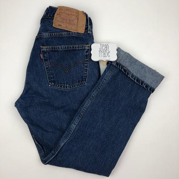 Levi's Denim - Vintage Levi's 501 Distressed High Waist Mom Jeans
